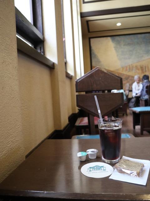 喫茶室にて